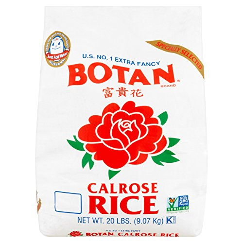 Botan Calrose Rice 20 lb US No 1 Extra Fancy
