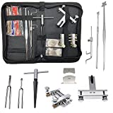 Jiayouy 10 Pieces Violin Repairing Maintenance Tool Kit with Carry Bag Luthier Tools Violin Making tools with Tuning Fork Violin Peg Reels Shaver Violin Clamp Sound Post Inserter T Handle Reamer