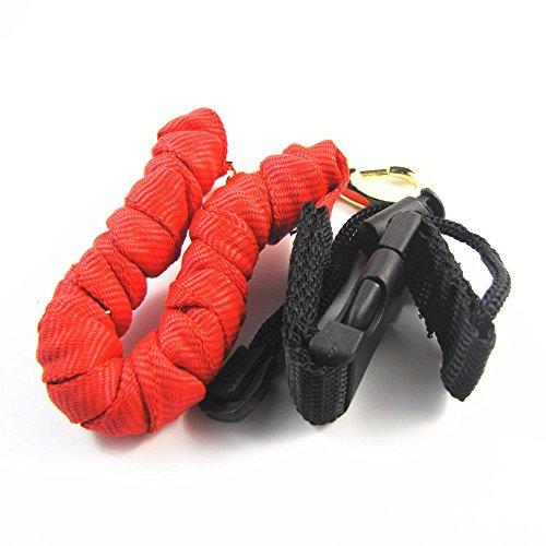 """Un amortiguador auxiliar interna está revestida de alta de alta resistencia a través de cinta tubular de color rojo. Las correas no son una sola cadena corta, que se tejen en un ligamento de la cobra súper fuerte y atractivo a alrededor de 36 """"de lar..."""