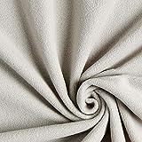 Fabulous Fabrics Fleece grau, Uni, 150cm breit – Fleece