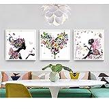 bdrsjdsb Schmetterling Blume Malerei dekorative Bild Home Wohnzimmer Wand Kunst Dekor Poster 6# 40 * 40 cm -