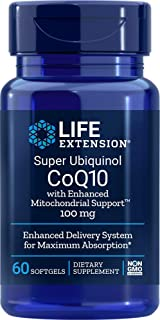 Life Extension Super Ubiquinol COQ10 with Enhanced Mitochondrial Support 100 mg, 60 Count