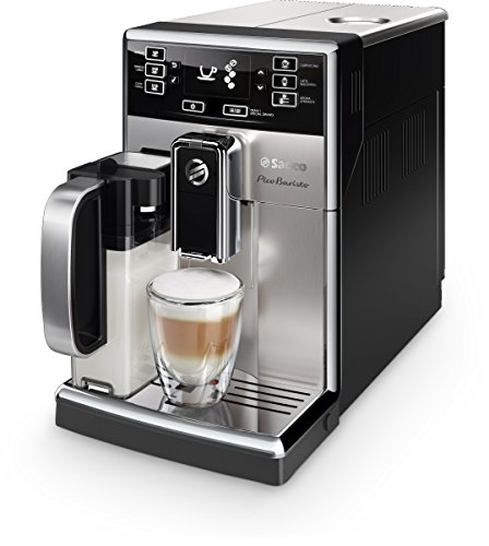 Saeco picobaristo super automatic espresso machine, 1. 8 l, stainless steel, hd8927/47 18 easily select one of 15 delicious drinks, or customize it to your taste with coffee equalizer and save it to one of 6 user profile our patented aquaclean water filter eliminates the need to descale for up to 5,000 cups get superior taste for 20,000 cups with our durable ceramic grinders