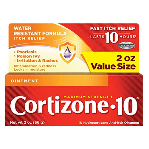 Cortizone Maximum Strength Ointment, 2 Ounce (0.1% Ointment)