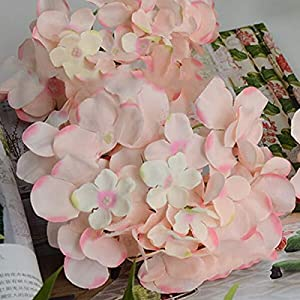 Artificial and Dried Flower Artificial Hydrangea Bouquet Flower Silk Flowers with Free Stem for Home Wedding Decoration Gift-30