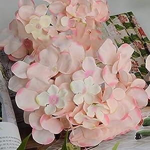 Artificial and Dried Flower Artificial Hydrangea Bouquet Flower Silk Flowers with Free Stem Hydrangea Bride Bouquet Wedding Home Decoration Accessories H99F