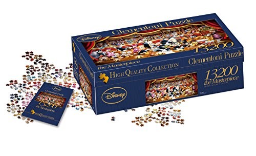 Clementoni 38010 Disney Orchestra – Puzzle 13200 Teile, High Quality Collection Panorama, Geschicklichkeitsspiel für die ganze Familie, Erwachsenenpuzzle ab 10 Jahren