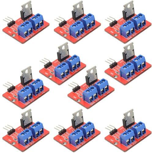 WMYCONGCONG 10 unidades IRF520 MOSFET módulo controlador para Arduino