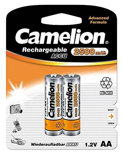 Camelion 17025206 Batterie rechargeable 2 accus R06 / AA / 2500 mAh sous blister