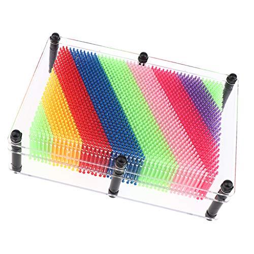 Perfeclan Pin Art Classic 3D Impressionen Desktop Office Spielzeug 7,87 X 5,91 X 2,17 Zoll - Transparent, L
