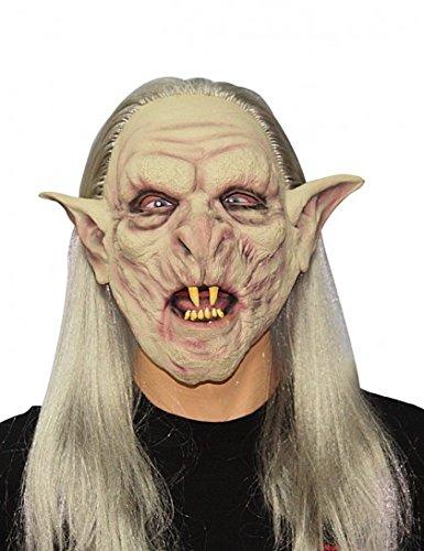 Masque de monstre avec cheveux adulte