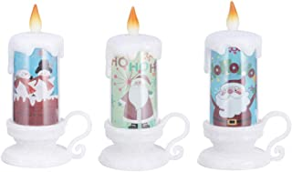 Mobestech 3pcs Christmas Candle Light Battery Operated Flameless Candle Lamp Decorative Candles for Christmas Party New Ye...