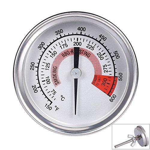 Qiorange 57mm Zeigerthermometer Bimetall Thermometer 300°C 600°F weiß