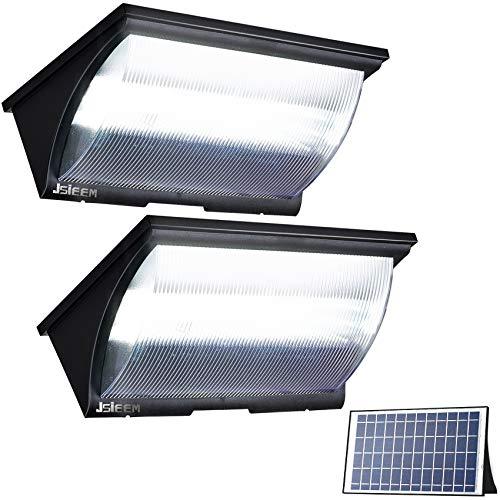 Solar Flood Lights Outdoor Solar Powered Lights Security Solar Dusk to Dawn Lighting with Motion Sensor 1200LM Jsieem 2 Pack Black