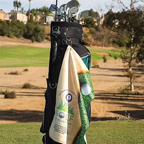 Custom Golf Towel, 15' x 25' - Personalized Photo Golf Towel, Fully Sublimated Subli-Plush Microfiber Velour Golf Towel
