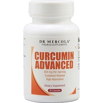 Dr. Mercola Curcumin Advanced Capsules, 0.5 Ounce