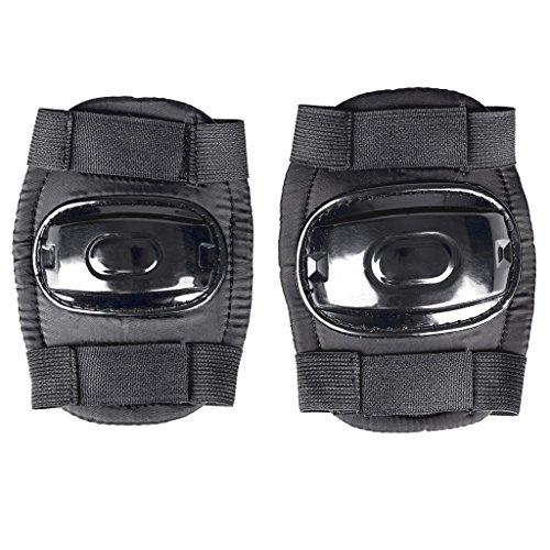 SPOKEY - Bumper Protektoren-Set für Kinder   Knieschoner   Ellbogenschoner, Größe/Size:L, Farben:Schwarz