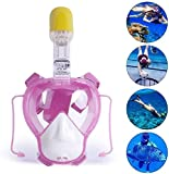 ASPORT Schnorchel Maske, Anti-Fog Anti-Leak Tauchmaske mit Earplug und Kamerahalter, chemische...