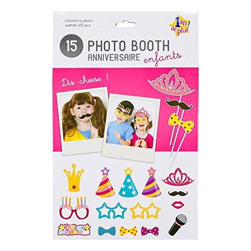 Set Geburtstag Kinder Foto Booth 1Jahr mehr Mädchen