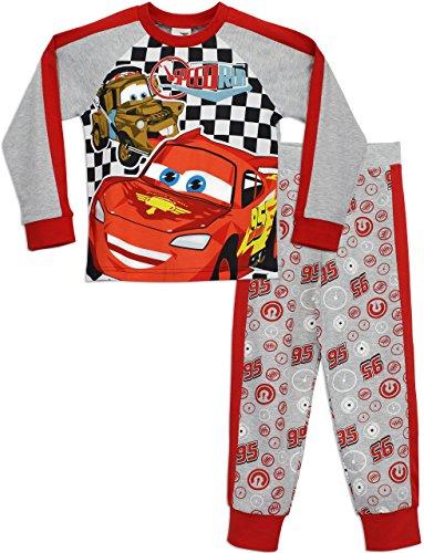Disney Pyjama-Set aus 100% Baumwolle mit langen Ärmeln und Disney Cars-Aufdrucken für Jungen 5-6 Jahre Mehrfarbig