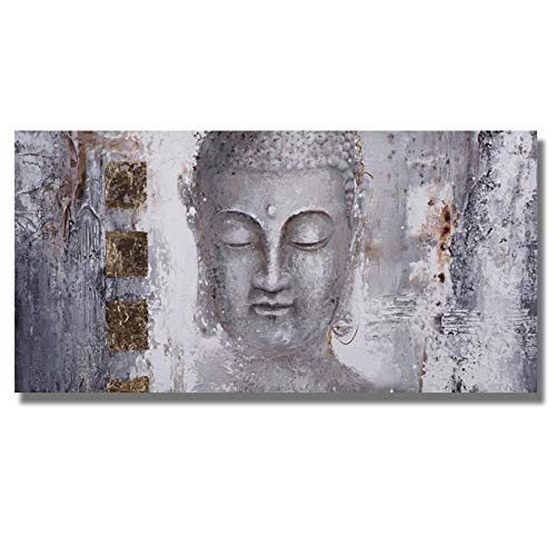 XZRDP Buddha Canvas Painting Posters and Prints Wall Art Modern Picture for Living Room Decor-50x100cmx1 pcs no Frame