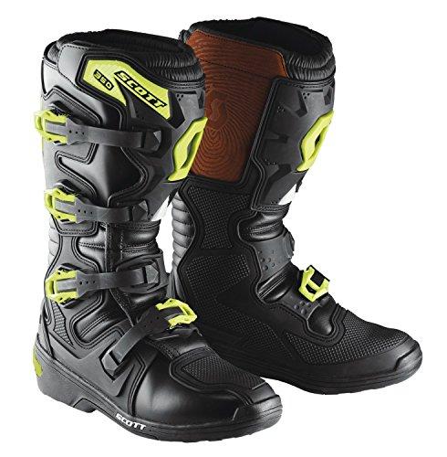 Scott 350 MX Motocross Supermoto Motorrad Stiefel schwarz/grün 2019: Größe: 46/47