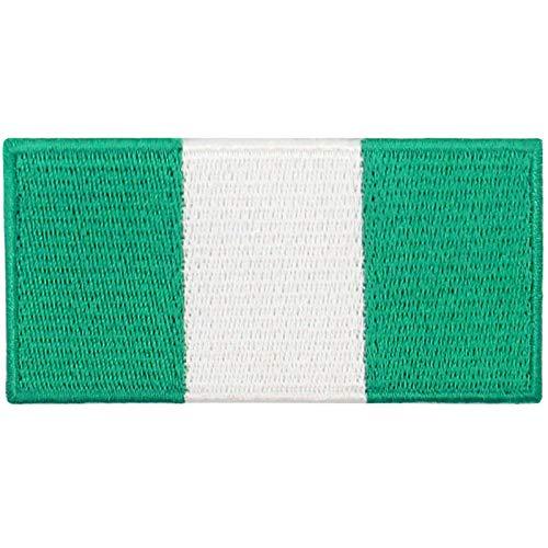 Nigeria Flagge Bestickter Aufnäher zum Aufbügeln/Annähen