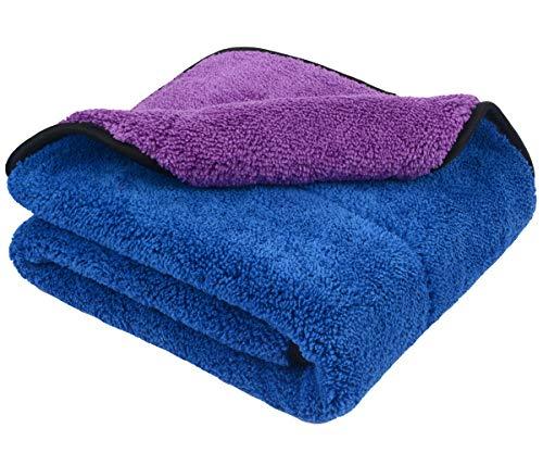 Preisvergleich Produktbild Profiqualität 720gsm Mikrofasertücher Auto Putztuch Auto Reinigungstuch Poliertücher (40cmx60cm-Blue / purple)