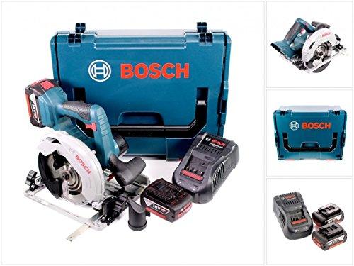 Bosch 06016A2102 Akku Ladegerät, Kreissägeblatt Optiline Wood, 165 x 1,7/1,2 x 20 mm, 1,0 W, 2 x 5,0 ah, 18 V