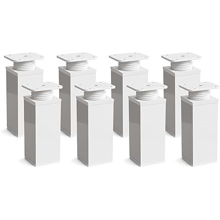 sossai® Patas para muebles MFV1 | 8 piezas | altura regulable ...