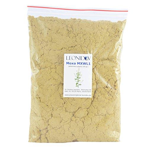 Leonidov moxa de larmoise de haute qualité pour la moxibustion - 100 gr.