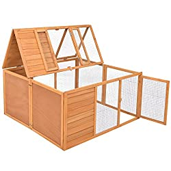 Tangkula Chicken Coop Small Animals Cage