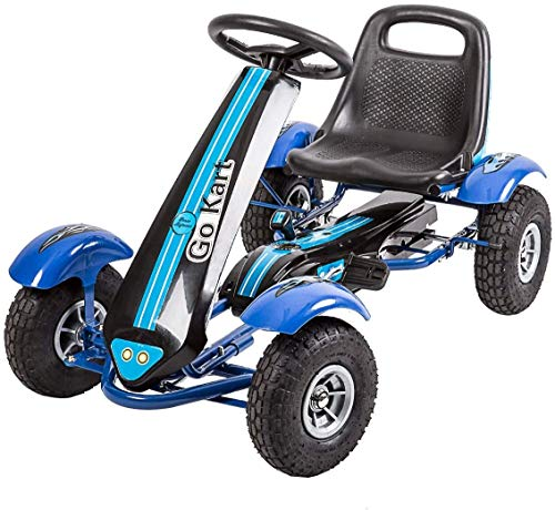 Pedal Go Kart for Kids Pedal Ride On Toys Outdoor Racer Pedal Car with Adjustable Seat for Boys...