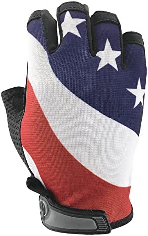 USA American Flag HALF Finger Gloves for Gym Exercise Cross Training Driving Cycling and Multi product image