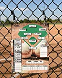 Metal Magnetic/Dry Erase - Baseball/Softball Line-Up Board | Includes Strong Magnets and Hanging Hardware (Baseball)