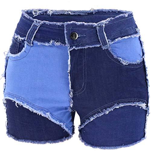 L9WEI - Pantalones vaqueros cortos para mujer, estrechos, estrechos, ajustados, ajustados, ajustados, Mujer, azul, 40