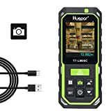 Huepar Laser Distance Meter with Camera 2X/4X Zoom, 295Ft High Accuracy Rechargeable Laser Measure M/In/Ft with 17 Measurement Modes-Pythagoras, Stake Out, Tilt Sensor, Color Backlit Display- LM90C