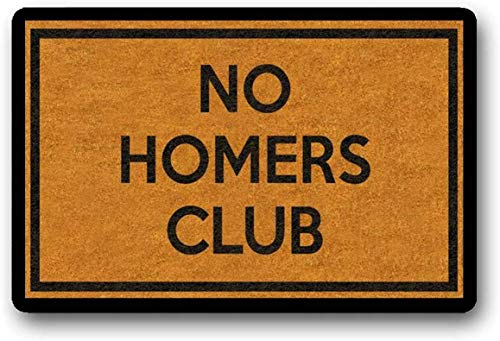LHM No Homers Club Felpudo No Homers Allowed No Homers Treehouse Simpsons Felpudo Home Simpsons Felpudo Unwelcome Mat 40 x 60 cm
