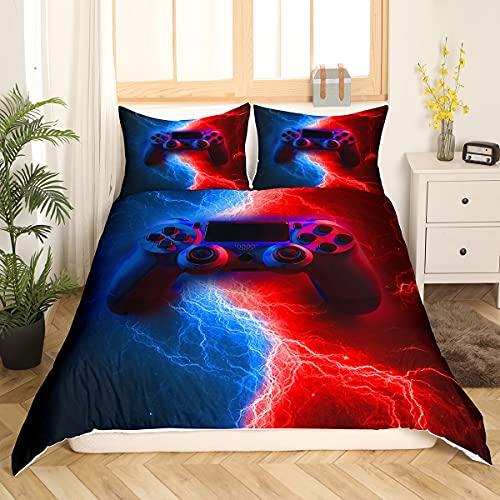 Homewish Juego de ropa cama jugador 135 x 200, Blitze Gamepad, funda nórdica para videojuegos...