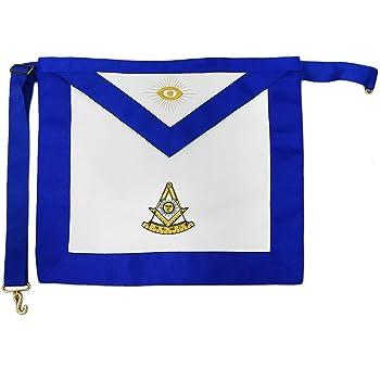 Imason Past Master Masonic Apron White Synthetic Leather