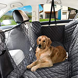 NAT-HOM Dog Seat Cover with View mesh, Pet Seat Cover Zipper Pockets Dog Car Seat Covers Cars, Trucks Suv's -Waterproof & Nonslip Backing