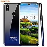 OUKITEL C15 Pro 6.088'Écran 19: 9 2.4G/5G WiFi Android 9.0 Smartphone 16GB MT6761 Quad-Core 2.0GHz 4G LTE 3200mAh Batterie Double caméra arrière d'empreintes digitales Téléphone Portable (Twilight)