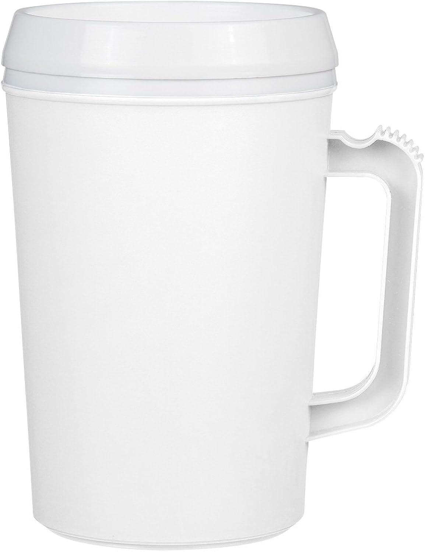 Logotastic 5534WE3 Thermo Insulated Mug (24 Pack), 19  16.5 oz 34 oz, White