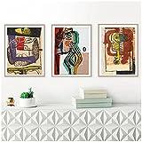 djnukd Le Corbusier Kunstwerk Leinwanddruck Vintage