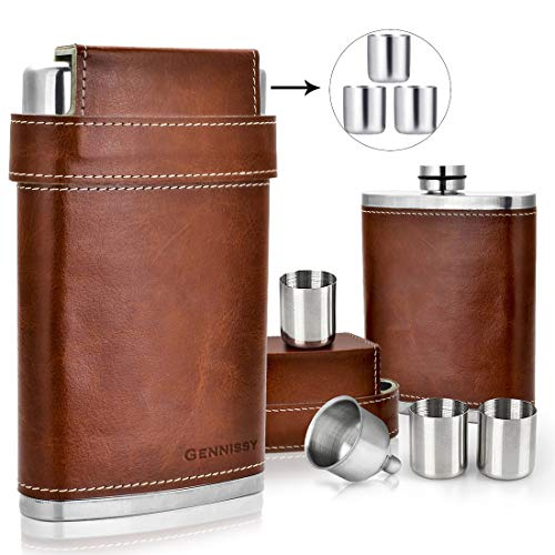 Our #7 Pick is the Gennissy Stainless Steel Flask