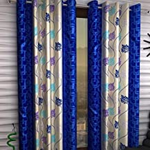 Honey Traders 2 Piece Eyelet Polyster Window Curtain - 5ft, Blue (Blue, 4 x 5)