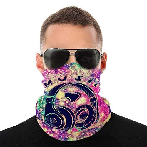 Nother Máscara irisente con purpurina arco iris para auriculares, máscara antiviento, máscara antipolvo, pasamontañas, bandana para cuello, doble impresión