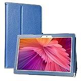 LiuShan Compatible con Teclast M30 Funda,Folio Soporte PU Cuero con Funda Caso para 10.1' Teclast M30 4G Tablet PC (No es Compatible con Teclast M20),Azul