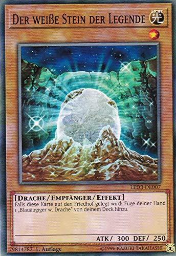 LED3-DE007 - Der weiße Stein der Legende - Common - Yu-Gi-Oh - Deutsch 1. Auflage