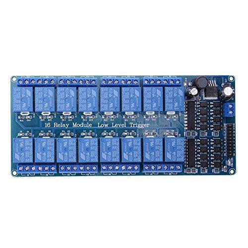Placa del módulo de relé de 16 canales 5V 12V para Arduino PIC...